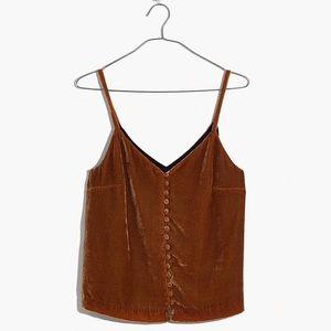 Madewell Velvet Button-Down Cami